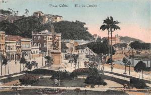 Praca Cabral Rio de Janeiro Brazil  Antique Postcard L2423