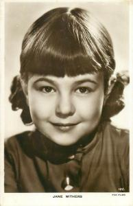 Child actress Jane Withers photo postcard