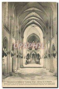 Old Postcard Chocolate of Abbey Tinchebrai Orne Chapel Interior