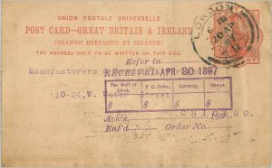 Entier Postal Stationery 1p London 1897