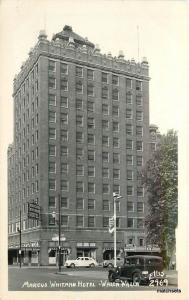 1940s Marcus Whitman Hotel Walla Walla Washington postcard RPPC 7899