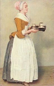 J.E. Liotard Das Schokoladenmädchen Girl Vintage Postcard 06.64