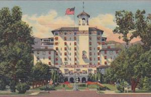 Colorado Colorado Springs Front Vista Of The Broadmoor Hotel Curteich