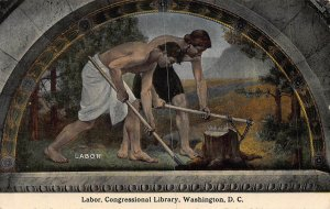Labor Congressional Library Washington D.C. postcard