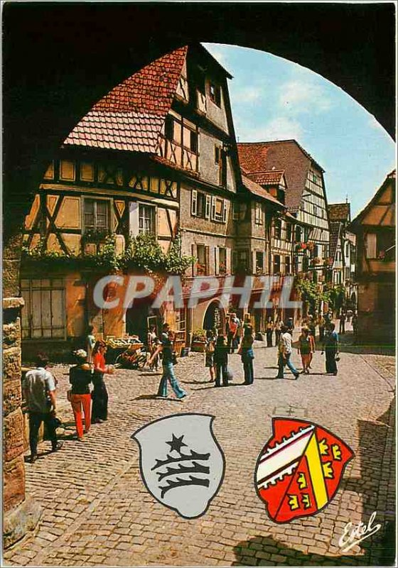 Modern Postcard In the Land of Storks Riquewihr (Haut Rhin) The General de Ga...