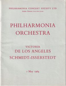 Victoria Los Angeles Royal Festival Hall Classical 1964 Theatre Programme