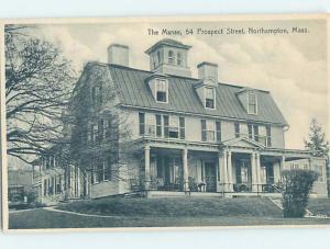 Unused Divided-Back THE MANSE HOTEL Northampton Massachusetts MA H5447