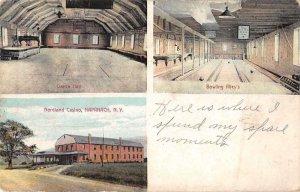 Napanach New York Nordland Casino Bowling Alley Vintage Postcard JJ658892