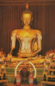 Thailand Sukhotai Golden Thai Buddha Photo Postcard