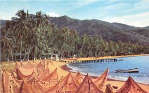 Venezuela~Playas Pintorescas~Beautiful Beach~Fishing Nets Drying~Postcard