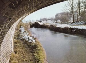 Kennet & Avon Canal Seend Wharf Bridge Boat Wiltshire Postcard