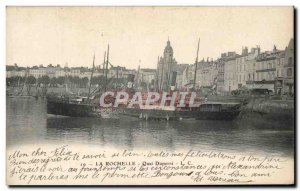 Old Postcard La Rochelle Boat Quai Duperre