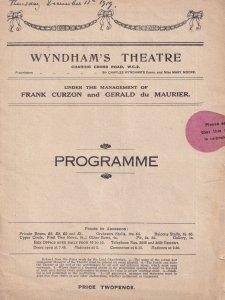 The Choice Gerald Du Maurier Boy Scout London Theatre Programme