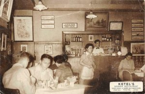 KETEL'S German Restaurant, Ginza-Nishi, Tokyo, Japan Bar c1930s Vintage Postcard