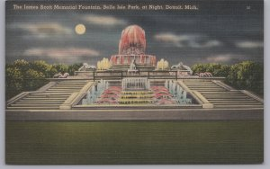 Detroit, Mich., The James Scott Memorial Fountain, Belle Isle Park at night-