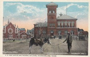 TEXARKANA , Texas-Arkansas , 1910s Post Office , Donkey