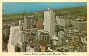 Memphis Tennessee~Birdxseye~Business Section~Looking North~1970s Ford