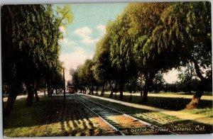 Euclid Avenue, Railway Ontario CA Vintage Postcard V03