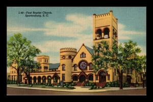 FIRST BAPTIST CHURCH SPARTANBURG SOUTH CAROLINA