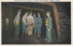 Anthracite Coal Miners in Mine with Electric Safety Lamps , 1910s