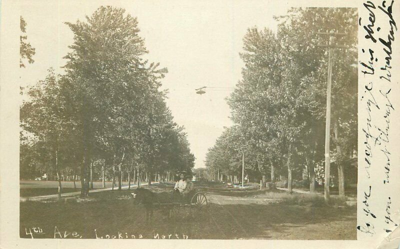 Children 1907 Roundup Minnesota 4th Avenue North RPPC Photo Postcard 21-1373