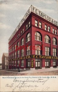 1907 ST. LOUIS MO FC TAYLOR FURS Most Prominent House in the Great Fur District