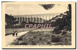 Old Postcard Aix en Provence Aqueduct Bridge Roquefavour