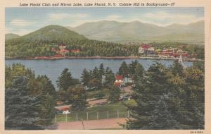 Lake Placid Club and Mirror Lake - Adirondacks, New York - pm 1946 - Linen