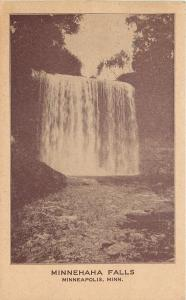 Minneaolis Minnesota~Minnehaha Falls~Water Fall~1909~Sepia-Tone Postcard