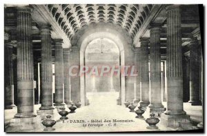 Old Postcard Paris Hotel Des Currencies The Peristyle
