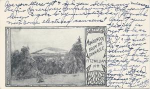 Monadnock from the Pinnacle, Fitzwilliam, N.H., Postcard, Used in 1905
