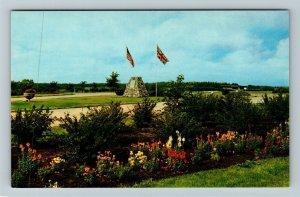 Dunseith ND- North Dakota, The Cairn, Peace Garden, Chrome Postcard