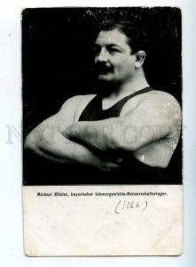 203388 GERMAN WRESTLER MICHAEL HITZLER Vintage postcard
