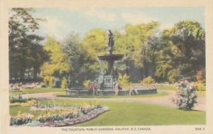 HALIFAX , Nova Scotia , 1910s-30s ; Fountain , Public Gardens