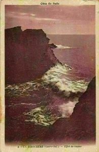 France Cote de Jade La Birochere Effet de Vague Sea Waves Postcard
