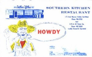 Southern Kitchen Restaurant Georgia, USA Postcard Post Cards Old Vintage Anti...