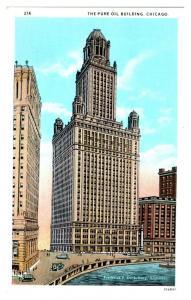 Pure Oil Building, Chicago, IL Postcard *5N15