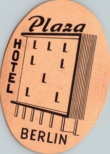 Germany Berlin Hotel Plaza Vintage Luggage Label sk4774