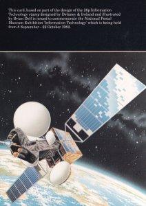 NASA Space Satellite 1982 Royal Mail Technology Postcard