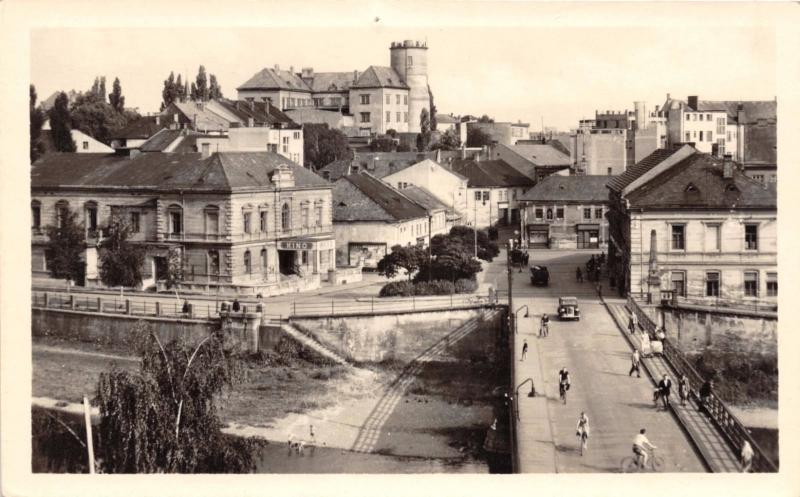 PREROV CZECHOSLOVAKIA ELEVATED PANORAMIC VIEW PHOTO POSTCARD 1956