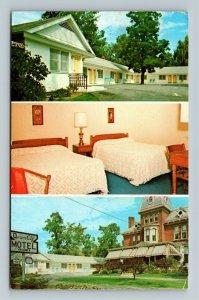 Burlington VT-Vermont, Queen City Motel, Advertising, Chrome c1969 Postcard