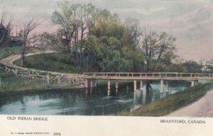 BRANTFORD , Ontario , 1900-10s ; Old Indian Bridge