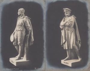 Holbein Orillo 2x Antique German Munich Museum Sculpture Postcard s