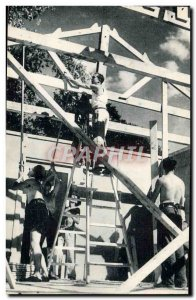 Old Postcard Scout Scout Jamboree Compagnons de France camp Companions build ...