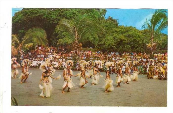 Dancing group HEIVA, Tahiti , 40-60s