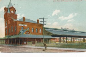 Rochester NY, New York - Erie Railroad Station - Depot - pm 1909 - DB