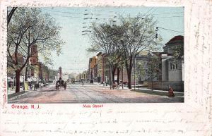 Main Street, Orange, New Jersey, Very Early Postcard, Used in 1907