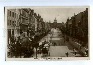 206559 CZECH PRAHA Vaclavcke Namesti Vintage photo postcard