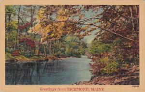 Maine Greetings From Richmond 1945