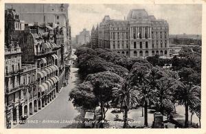Argentina Buenos Aires - Avenida Leandro N. Alem y Palacio del Correo